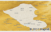 Shaded Relief Panoramic Map of Abag Qi, physical outside