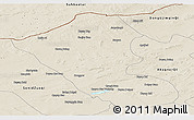 Shaded Relief Panoramic Map of Abag Qi
