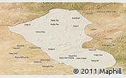 Shaded Relief Panoramic Map of Abag Qi, satellite outside