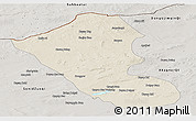 Shaded Relief Panoramic Map of Abag Qi, semi-desaturated