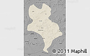 Shaded Relief Map of Abagnar Qi, darken, desaturated