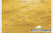 Physical Panoramic Map of Abagnar Qi