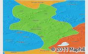 Political Panoramic Map of Abagnar Qi