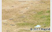 Satellite Panoramic Map of Abagnar Qi