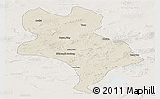 Shaded Relief Panoramic Map of Abagnar Qi, lighten