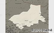 Shaded Relief Map of Alxa Youqi, darken