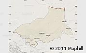 Shaded Relief Map of Alxa Youqi, lighten