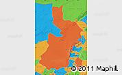 Political Map of Alxa Zuoqi