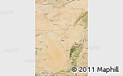 Satellite Map of Alxa Zuoqi