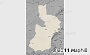 Shaded Relief Map of Alxa Zuoqi, darken, desaturated