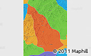 Political Map of Ar Horqin Qi