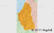 Political Map of Bairin Zuoqi, lighten