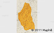 Political Map of Bairin Zuoqi, shaded relief outside