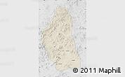 Shaded Relief Map of Bairin Zuoqi, lighten, desaturated