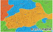 Political 3D Map of Butha Qi