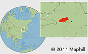 Savanna Style Location Map of Butha Qi