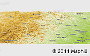 Physical Panoramic Map of Butha Qi