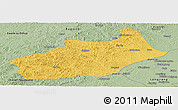 Savanna Style Panoramic Map of Butha Qi