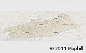 Shaded Relief Panoramic Map of Butha Qi, lighten