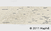 Shaded Relief Panoramic Map of Butha Qi