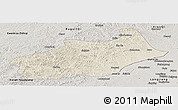 Shaded Relief Panoramic Map of Butha Qi, semi-desaturated