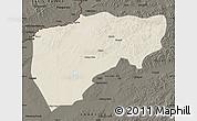 Shaded Relief Map of Chenbarag Qi, darken