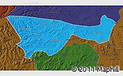 Political Map of Chifeng, darken