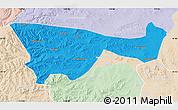 Political Map of Chifeng, lighten
