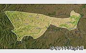 Satellite Map of Chifeng, darken