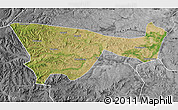 Satellite Map of Chifeng, desaturated