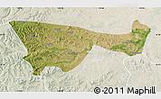 Satellite Map of Chifeng, lighten