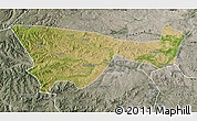 Satellite Map of Chifeng, semi-desaturated