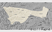 Shaded Relief Map of Chifeng, darken, desaturated