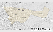 Shaded Relief Map of Chifeng, lighten, desaturated