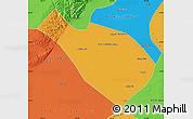 Political Map of Dengkou