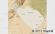 Shaded Relief Map of Dengkou, satellite outside
