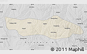 Shaded Relief Map of Dongsheng, desaturated