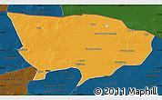 Political Map of Ejin Qi, darken