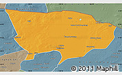Political Map of Ejin Qi, semi-desaturated