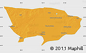 Political Map of Ejin Qi, single color outside