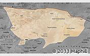 Satellite Map of Ejin Qi, darken, desaturated
