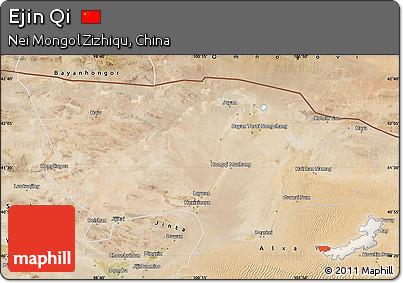 Satellite Map of Ejin Qi