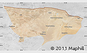 Satellite Map of Ejin Qi, lighten, desaturated