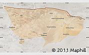 Satellite Map of Ejin Qi, lighten, semi-desaturated