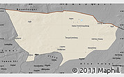 Shaded Relief Map of Ejin Qi, darken, desaturated