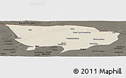 Shaded Relief Panoramic Map of Ejin Qi, darken