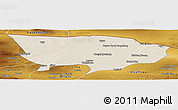Shaded Relief Panoramic Map of Ejin Qi, physical outside