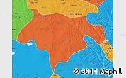 Political Map of Ejinhoro Qi