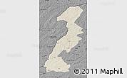 Shaded Relief Map of Ergun Youqi, darken, desaturated