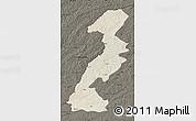 Shaded Relief Map of Ergun Youqi, darken